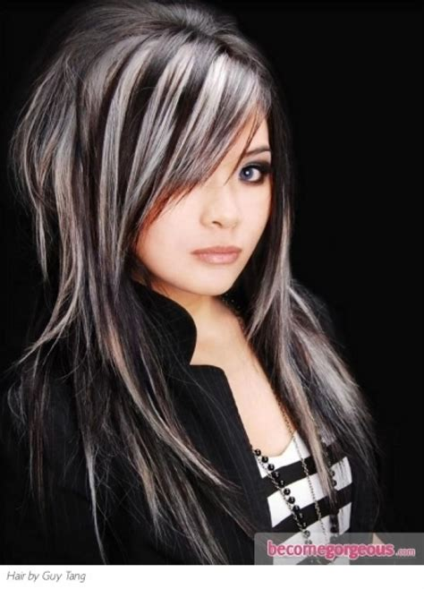 hairstyles for black hair with blonde highlights black hair with blonde peekaboo highlights tumblr archives