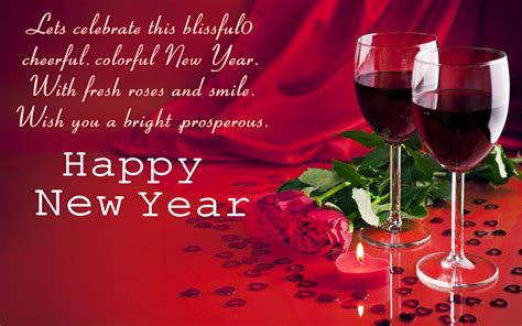 happy  year glasses  red wine red rose greeting card candle hd wallpaper