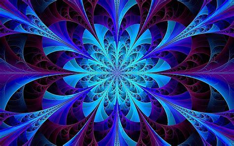Blue Kaleidoscope Wallpaper | blue kaleidoscope fractal wallpapers blue kaleidoscope