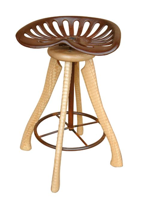 wood tractor seat stool tractor seat stool by brad smith wood stool artful home