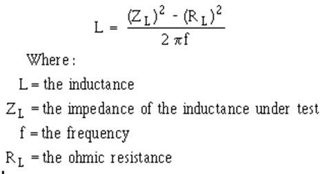 q value of an inductor reactance type measurements