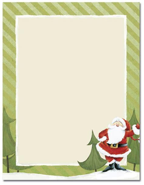 printable paper from santa quick view malhx96 quot jolly santa claus laser paper quot