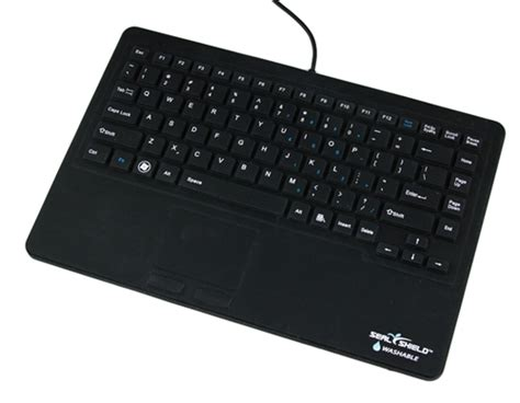 Keyboard All In One Touch Keyboard Blackweb seal touch waterproof silicone all in one keyboard with built in touchpad pointing device