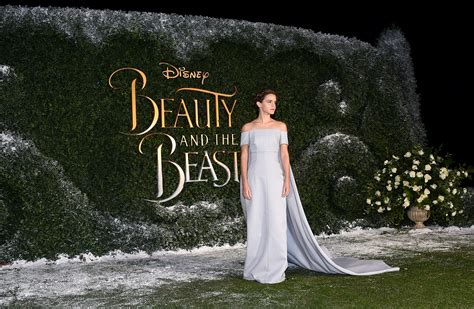 Emma Watson was a real life princess at the Beauty and the Beast London premiere   Vogue Australia
