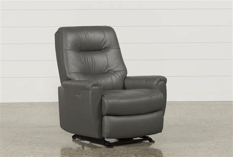 Wallaway Recliners by Rogan Leather Grey Power Wallaway Recliner Living Spaces