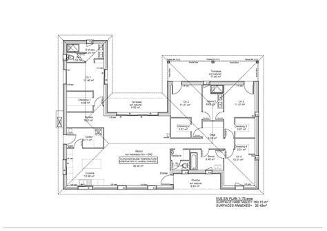 Plan Maison Moderne Plain Pied Images plan maison plain pied 150m2 maison moderne