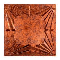 Copper Ceiling Tiles Home Depot by Fasade Deco 2 Ft X 2 Ft Lay In Ceiling Tile In