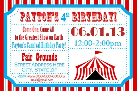 free printable carnival party decorations circus birthday party carnival invite circus by