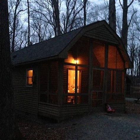 Killens Pond Cabins by Cabin 2 Lit Up At Dusk Picture Of Killens Pond