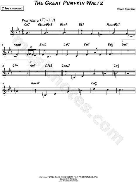 guitar tab the great pumpkin waltz video dailymotion vince guaraldi quot the great pumpkin waltz c instrument