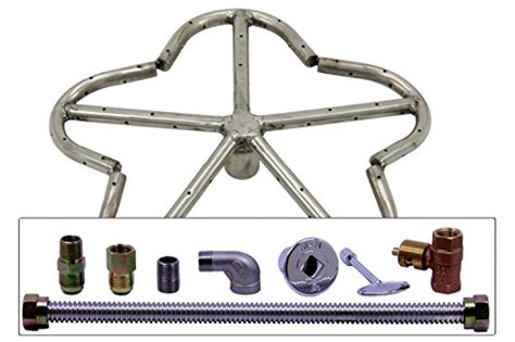 gas pit burner kit spotix penta gas pit burner kit 12 inch