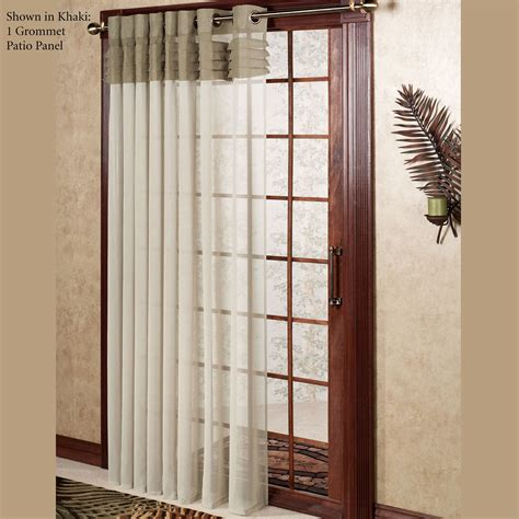 patio door sheer curtains geneva semi sheer grommet patio panel