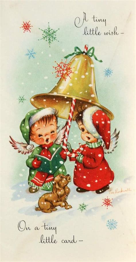 wwwgooglecom beautiful vintage christmas cookies items similar to vintage greetings card a tiny wish rockwell on etsy