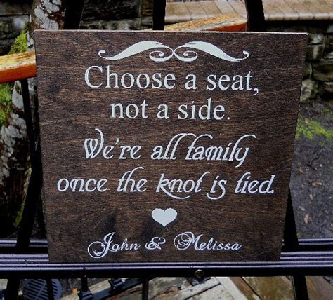 choose a seat not a side wedding sign choose a seat not a side sign rustic wedding sign country