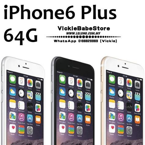 Iphone 6 Pplus 64gb Second Original 100 apple iphone 6 plus 64gb lte sim free 100 ori imp end 5 6 2017 8 15 00 pm