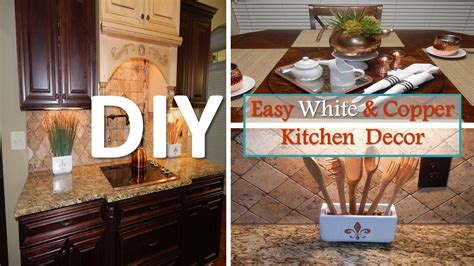 Where To Find Home Decor Diy Easy White And Copper Kitchen Decor With Dollar Tree