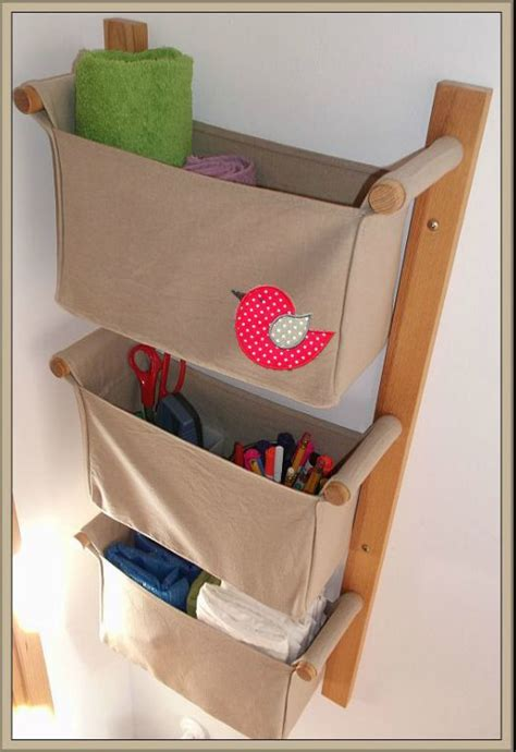 wall pocket organizer wall organizer with 3 pockets beige colour linen