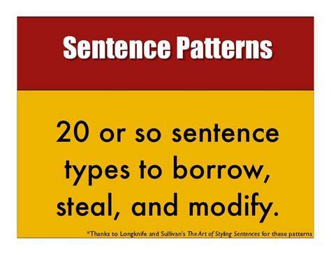 sentence pattern changer sentence types