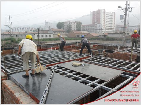 Large House Floor Plans by Scaffolding Concrete Supporting Material Floor Slab