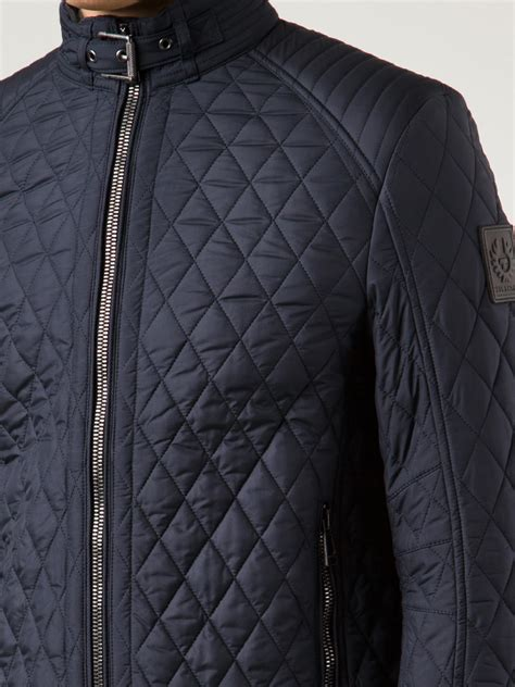 Quilted Clothing by Belstaff Quilted Jacket In Blue For Lyst