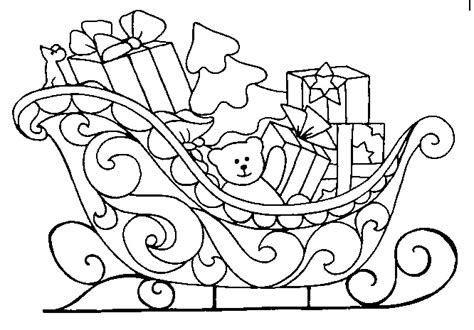 coloring pages of santa sleigh christmas sled coloring pages crafts and worksheets for