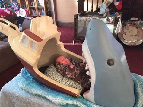 shark bed a jaws themed bed for baby is kinda morbid totally badass