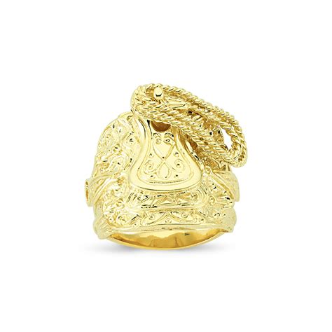 9ct yellow gold gents saddle ring sks jewellers