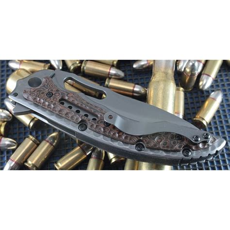 crkt made in usa couteau crkt ikoma fossil lame acier 8cr13mov manche 2cr13