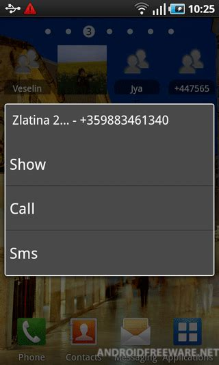 contact widget for android contact widget free app android freeware