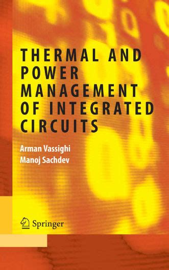 power management integrated circuits thermal and power management of integrated circuits avaxhome