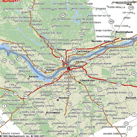 map of ottawa canada and surrounding area listings canada