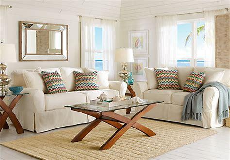 cindy crawford living room sets cindy crawford beachside natural 7 pc living room living