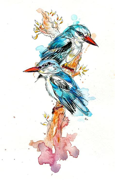 various birds amp watercolors of 2013 on behance