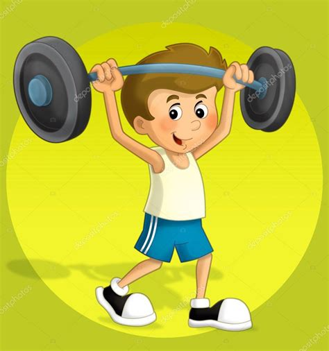 imagenes niños fuertes the illustration kid in the gymnasium stock photo