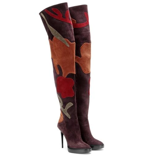 above knee boots suede the knee boots burberry prorsum mytheresa