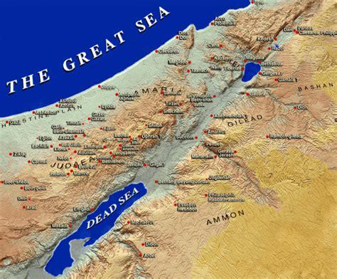 biblical map of israel map of israel in biblical times carm org