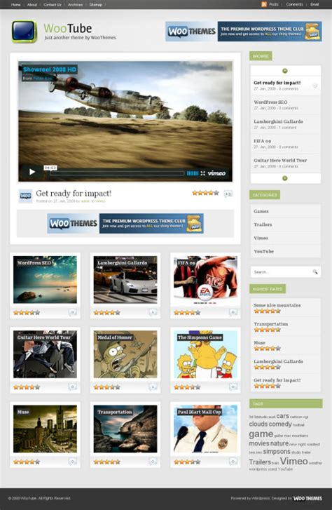 best wordpress themes video blog best wordpress video themes multimedia blog theme
