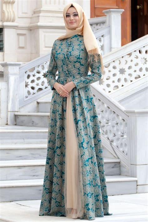Baju Muslim Wanita Maxy Dress Brocade Combi Dress Brocade Maxy puane ye蝓il abiye elbise thumbnail gamis batik