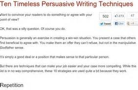 Techniques Of Essay Writing by College Essays College Application Essays Persuasive Essay Techniques