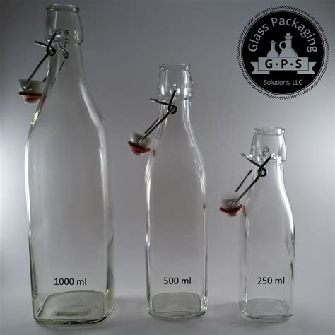 1 liter swing top bottles bormioli rocco 1 liter square clear swing top bottles
