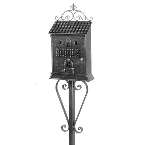cassetta lettere cassetta per lettere con piantana in ferro battuto windowo