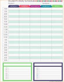 daily schedule template 4 daily schedule planner ganttchart template
