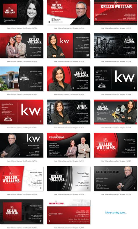 Keller Williams Business Card Templates top 20 keller williams business cards templates design thick glossy color