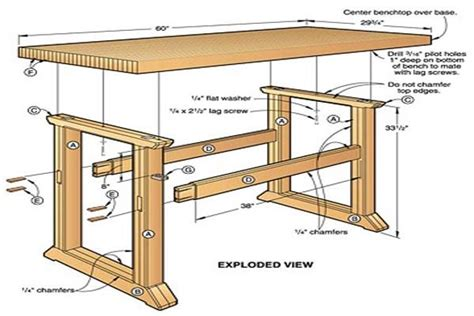 woodworking bench dimensions build a workbench easy way to decorate your outdoor space