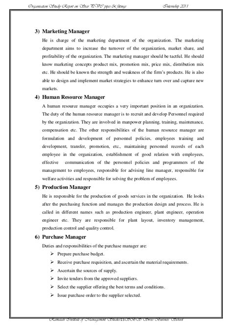 Internship Report Format For Mba Hrm by Mba Internship Report