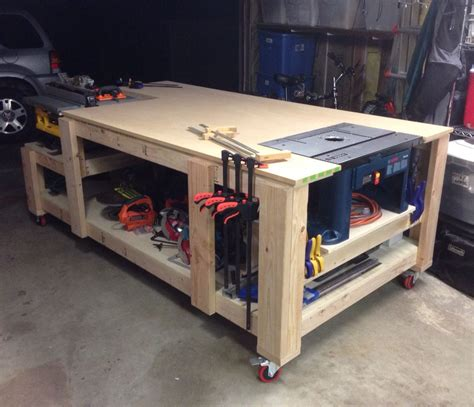 table saw work bench my take on the ultimate workbench homes for my table