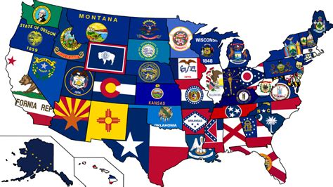 usa map states flags dates of statehood state symbols usa