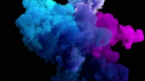 smoke color colored smoke explosion on black stock footage 100