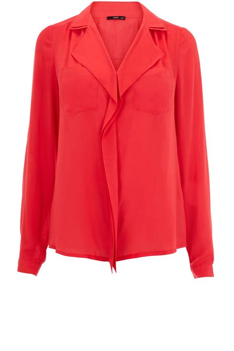 Forever21 River Coral Blouse oasis viscose blouse in lyst