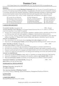 Bank Resume Exles by Bank Branch Manager Resume Exle Banking Resume Sles